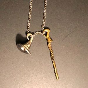 Jewelry - Harry Potter necklace hat wand hogwarts gryffindor